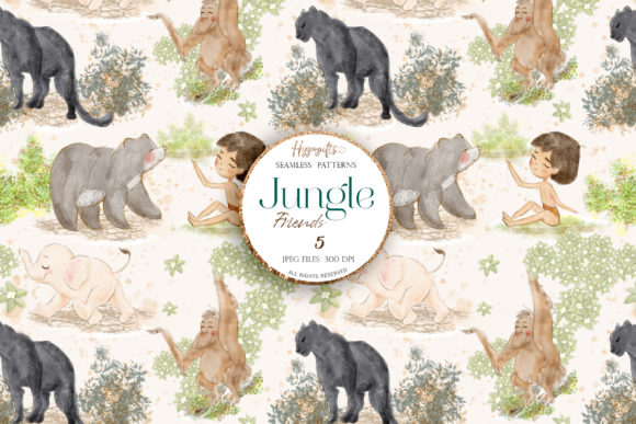 Jungle Patterns,woodland Patterns Graphic Patterns By Hippogifts - Image 2