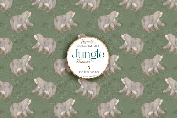 Download Free Jungle Patterns Woodland Patterns Graphic By Hippogifts for Cricut Explore, Silhouette and other cutting machines.