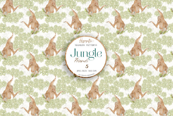 Jungle Patterns,woodland Patterns Graphic Patterns By Hippogifts - Image 6