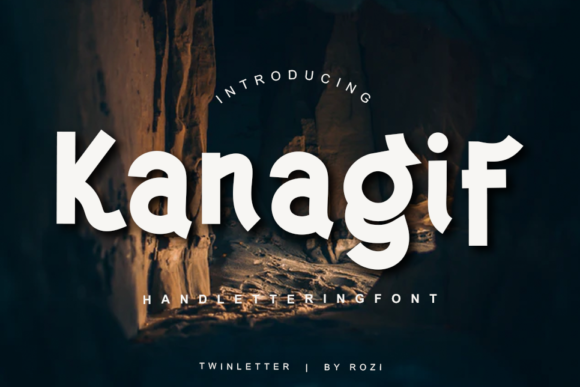 Print on Demand: Kanagif Sans Serif Font By twinletter