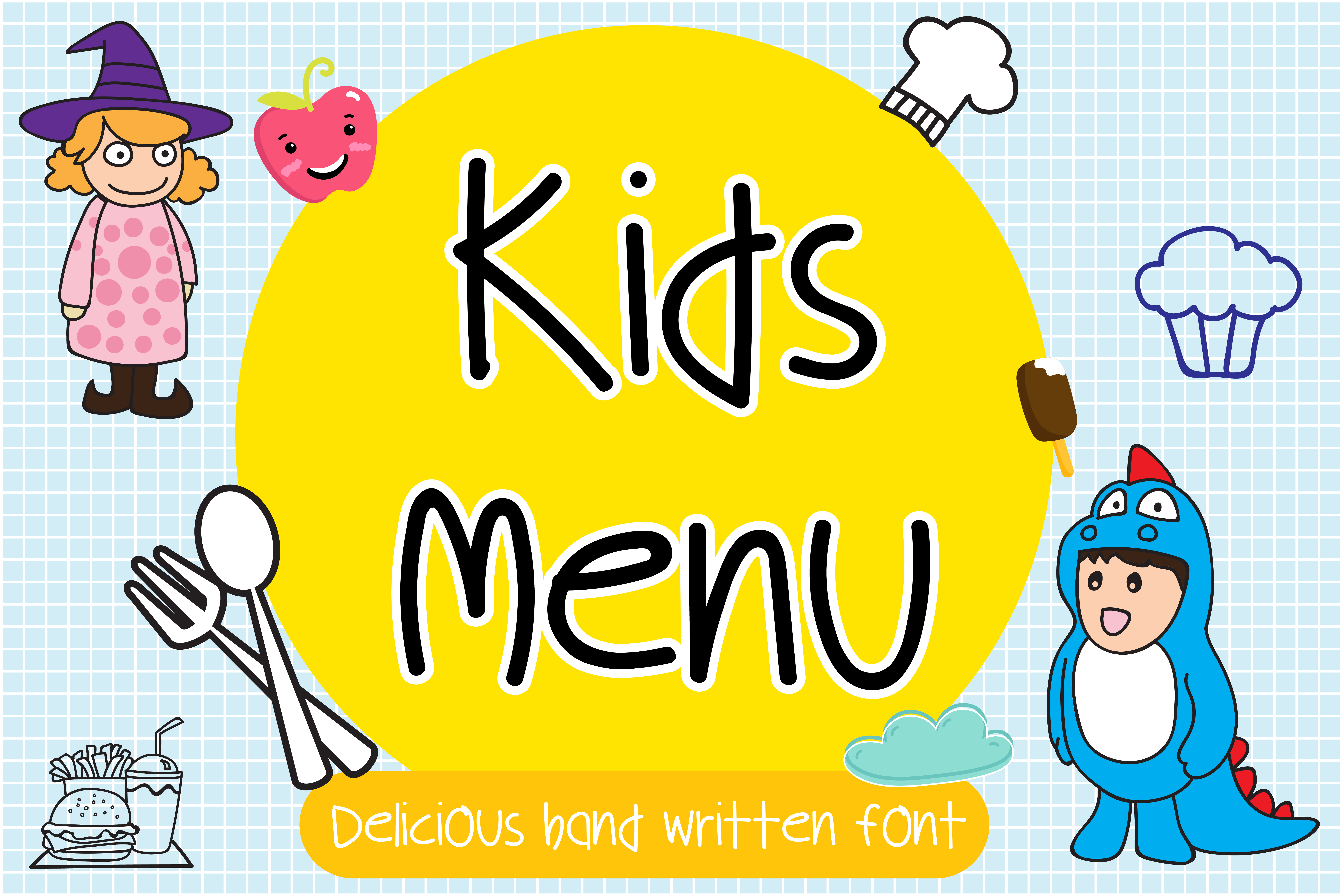 Download Free Kids Menu Font By Vividdiy8 Creative Fabrica for Cricut Explore, Silhouette and other cutting machines.