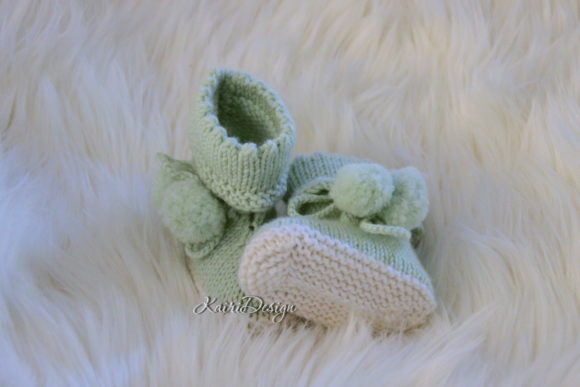 Knitting Pattern Baby Booties Two Colour Graphic