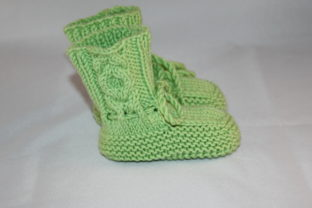 Knitting Pattern Baby Cabled Booties Graphic Knitting Patterns By Kairi Mölder