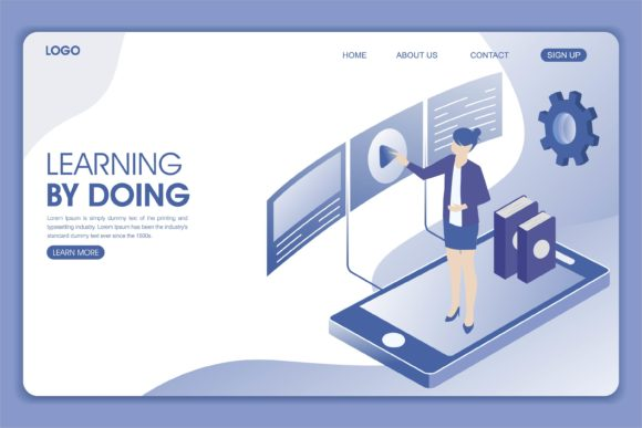 Print on Demand: Landing Page of Digital Marketing Graphic Landing Page Templates By edywiyonopp