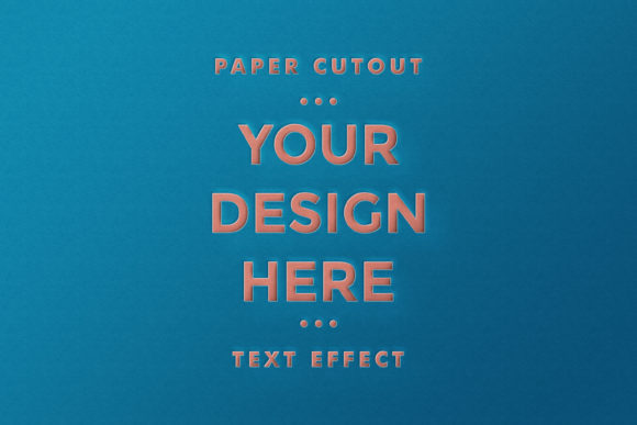 Logo on Paper Cutout Effect Mockup Graphic Product Mockups By suedanstock