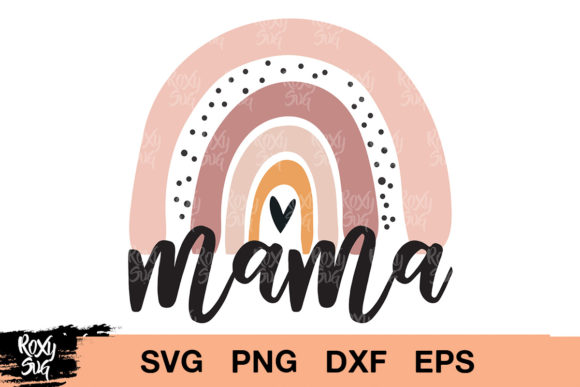 Download Free Mama Rainbow Clipart Graphic By Roxysvg26 Creative Fabrica SVG Cut Files