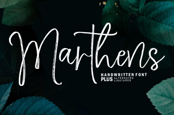Print on Demand: Marthens Script & Handwritten Font By Youngtype