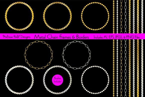 Metal Chain Frame & Border Patterns Graphic Patterns By Melissa Held Designs