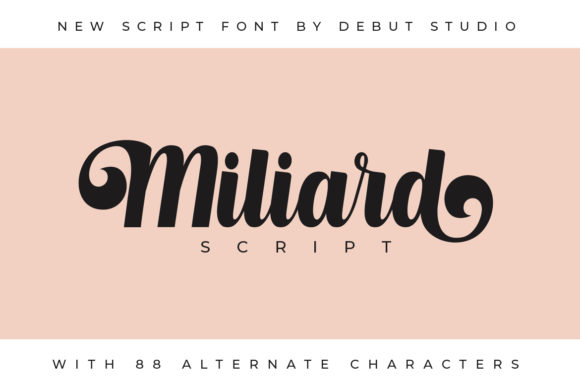 Print on Demand: Milliard Script Script & Handwritten Font By Debut Studio