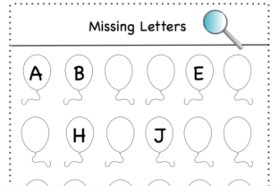 Missing Letters Graphic K By Lory's Kindergarten Resources!