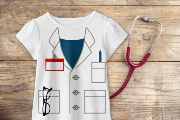 Mock Lab Coat Graphic Crafts By DesignedByGeeks