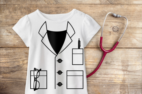 Mock Lab Coat Graphic Download