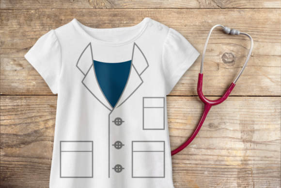 Mock Lab Coat Graphic Item