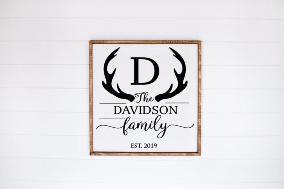 Print on Demand: Monogram Family Sign Graphic Crafts By Simply Cut Co