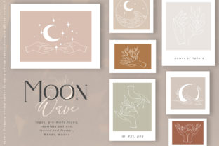 Moon Wave Graphic Illustrations By BilberryCreate