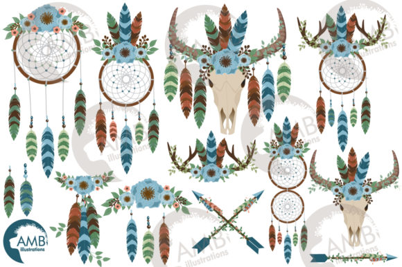 Moonlight Dreamcatcher Clipart Graphic Illustrations By AMBillustrations - Image 2