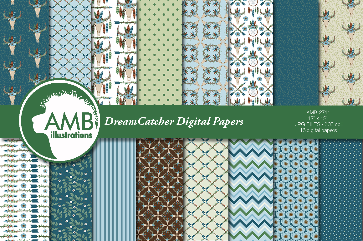 Download Free Moonlight Dreamcatchers Patterns Graphic By Ambillustrations for Cricut Explore, Silhouette and other cutting machines.