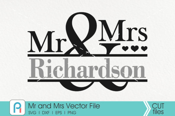 Download Free Mr And Mrs Monogram Graphic By Pinoyartkreatib Creative Fabrica for Cricut Explore, Silhouette and other cutting machines.