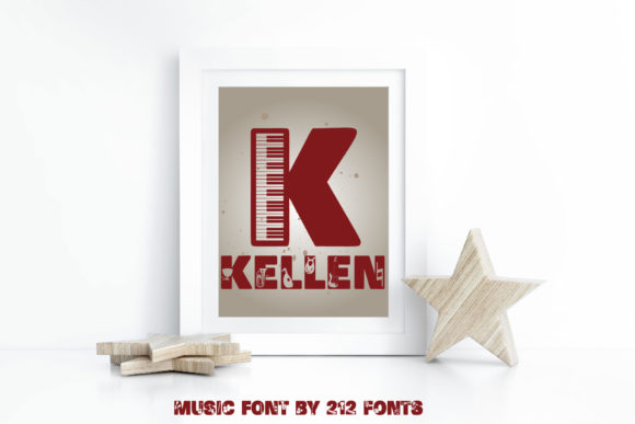 Print on Demand: Music Display Font By 212 Fonts - Image 2