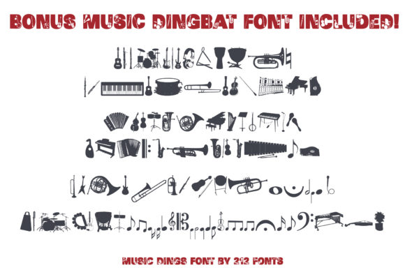 Print on Demand: Music Display Font By 212 Fonts - Image 4