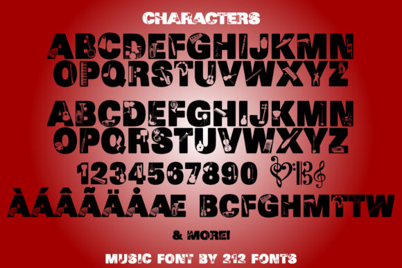 Print on Demand: Music Display Font By 212 Fonts - Image 5