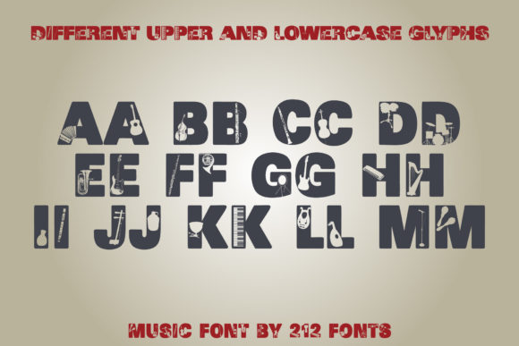 Print on Demand: Music Display Font By 212 Fonts - Image 6