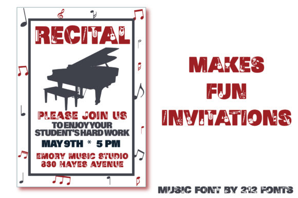 Print on Demand: Music Display Font By 212 Fonts - Image 7