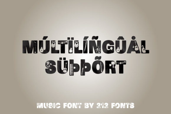 Print on Demand: Music Display Font By 212 Fonts - Image 8