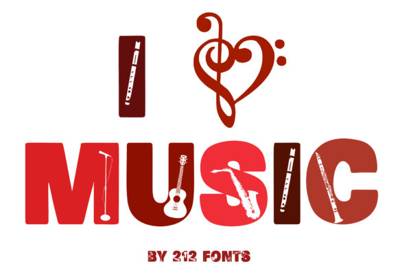 Print on Demand: Music Display Font By 212 Fonts - Image 9