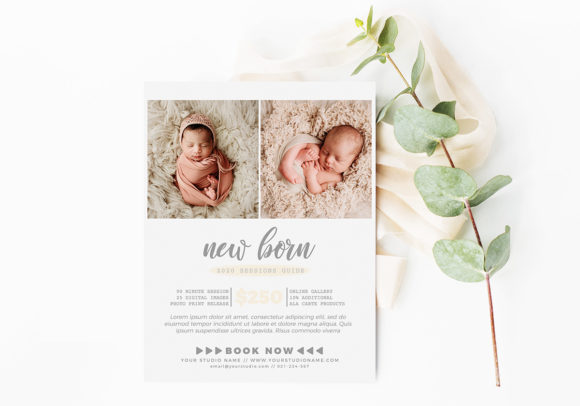 New Born Price Guide Photography Flyer Graphic Print Templates By ivanjoys19