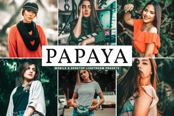 Print on Demand: Papaya Lightroom Presets Pack Graphic Actions & Presets By Creative Tacos