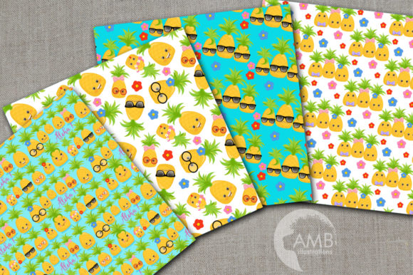 Download Free Pineapple Fun Patterns Graphic By Ambillustrations Creative SVG Cut Files