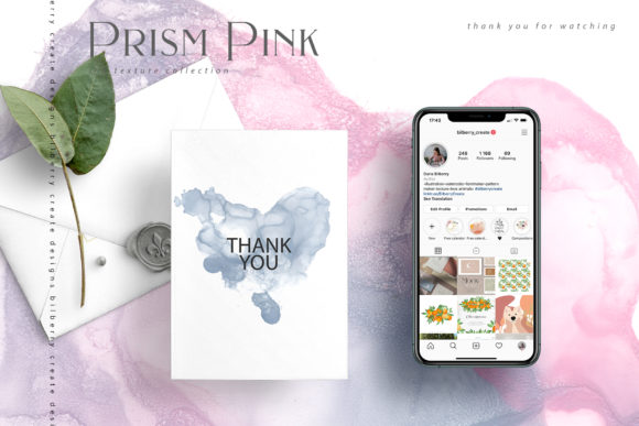 Prism Pink Ink Textures Graphic Textures By BilberryCreate - Image 15