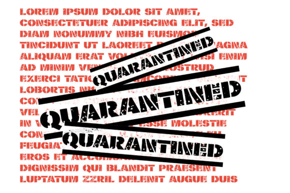 Print on Demand: Quarantined Display Font By VTKS Design