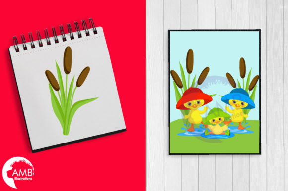 Download Free Rainy Day Spring Ducks Clipart Grafico Por Ambillustrations for Cricut Explore, Silhouette and other cutting machines.
