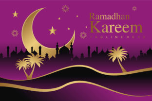 Download Free Ramadhan Kareem Banner Graphic By Edywiyonopp Creative Fabrica for Cricut Explore, Silhouette and other cutting machines.