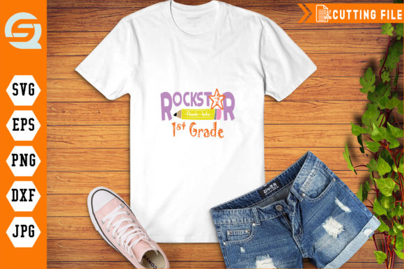 Rockstar into 1st Grade Graphic Crafts By Crafty Files