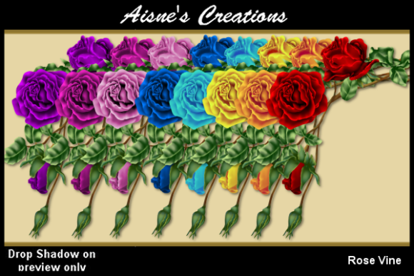 Print on Demand: Rose Vine Graphics Graphic Illustrations By Aisne