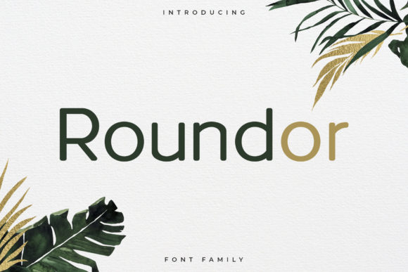 Print on Demand: Roundor Sans Serif Font By RC graphics