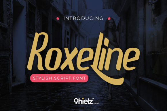 Print on Demand: Roxeline Script & Handwritten Font By AwesomeGraphic