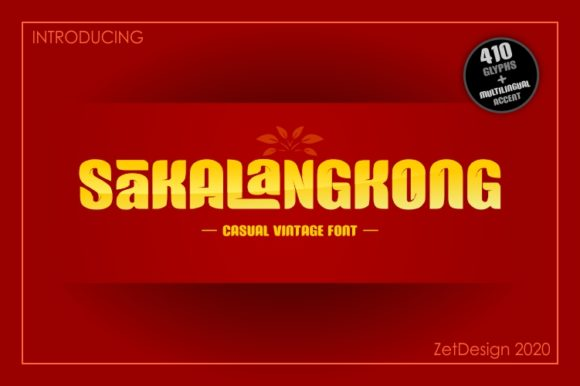 Print on Demand: Sakalangkong Decorative Font By ZetDesign