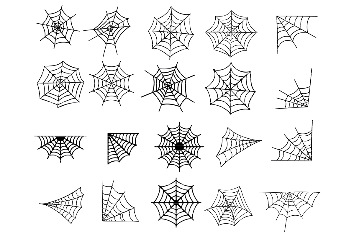 Download Free Spider Web Bundle Graphic By Meshaarts Creative Fabrica for Cricut Explore, Silhouette and other cutting machines.