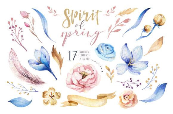 Spirit of Spring Watercolor Collection Graphic Illustrations By kristinakvilis - Image 3