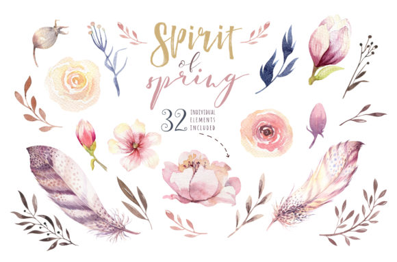 Spirit of Spring Watercolor Collection Graphic Illustrations By kristinakvilis - Image 4