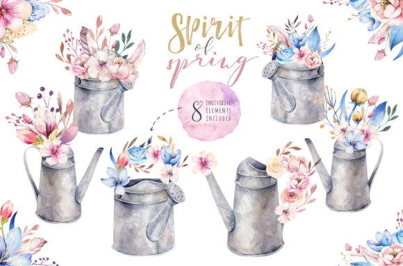 Spirit of Spring Watercolor Collection Graphic Illustrations By kristinakvilis - Image 7