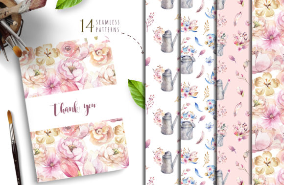 Spirit of Spring Watercolor Collection Graphic Illustrations By kristinakvilis - Image 8