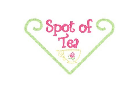 Spot of Tea Tea & Coffee Embroidery Design By Sue O'Very Designs