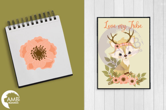 Spring Foxes Clipart Graphic Illustrations By AMBillustrations - Image 5