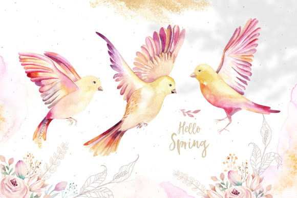 Spring & Love Watercolor Collection Graphic Illustrations By kristinakvilis - Image 4