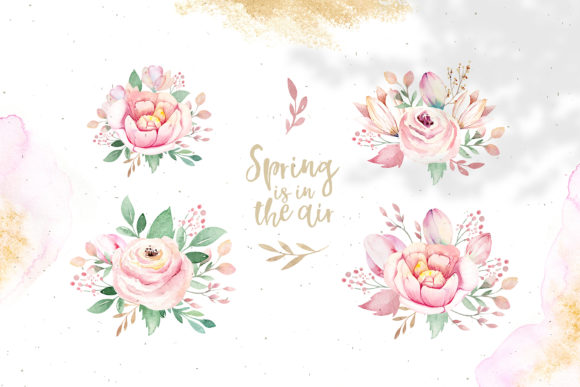 Spring & Love Watercolor Collection Graphic Illustrations By kristinakvilis - Image 6